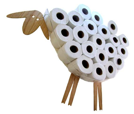 Your kids are sure to love this sheep in their baaa-throom!