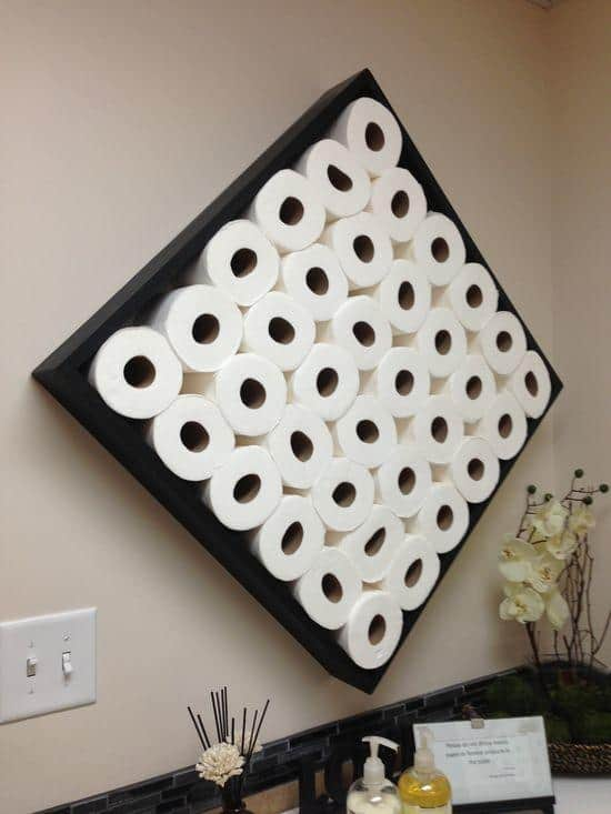 Turn spare toilet paper rolls into a piece of art!