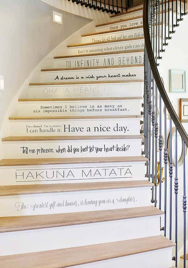 These phrases are sure to make everyone smile as they climb your steps!