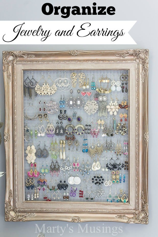 DIY Jewelry Display From An Old Picture Frame