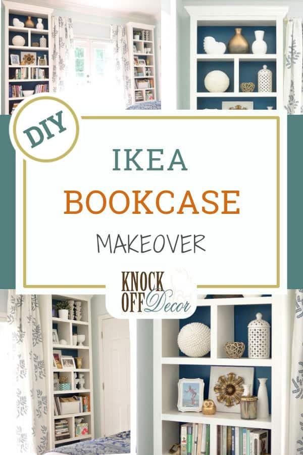Easy Ikea Bookcase Makeover Knockoffdecor Com