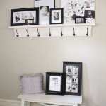 Easy Faux Mantle with Hooks
