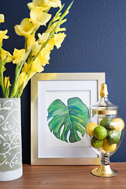 pottery-barn-inspired-diy-palm-leaf-art-prints-5
