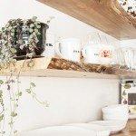 Beautiful Live-Edge Kitchen Shelves