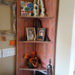 DIY Corner Shelves from a Reclaimed Door