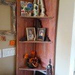 DIY Corner Shelves from a Reclaimed Door