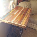 Recycled Yard Stick Table Top
