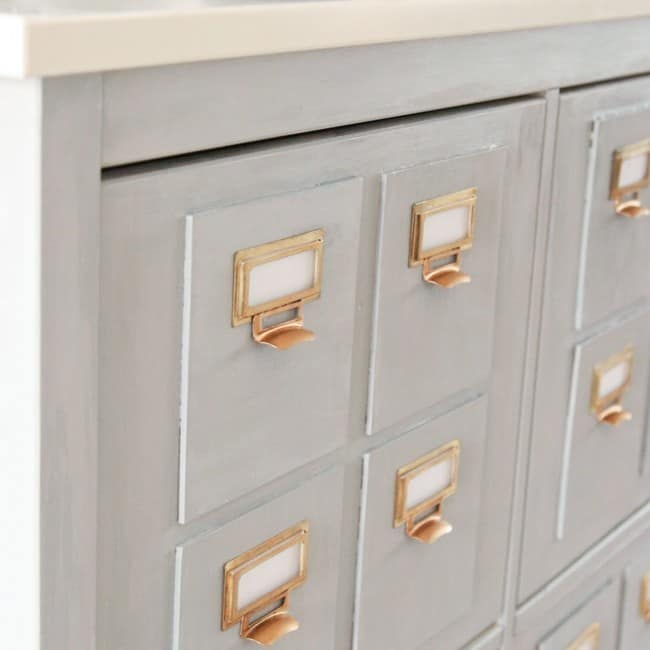 DIY Ikea Faux Card Catalog Draws