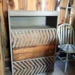 Painted Chevron Chest