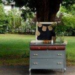 Modern Mahogany Dresser Makeover