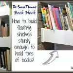Reading Nook with Floating Shelves