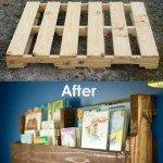 Recycled Pallet Wood Bookshelf