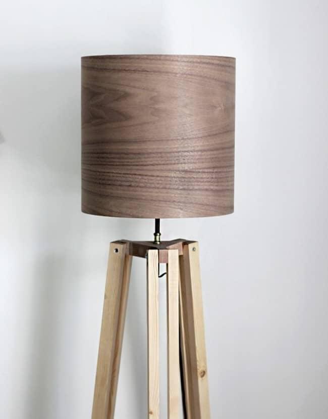 make your own tripod floor lamp. Black Bedroom Furniture Sets. Home Design Ideas