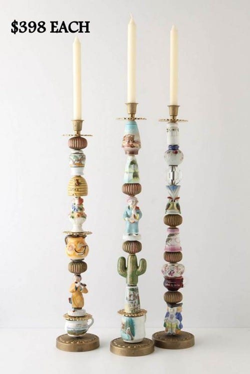 Anthropologie Inspired Trinket Candlestick Holders