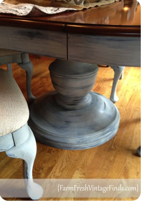Chalk Paint Round Pedestal Dining Table Knockoffdecor Com