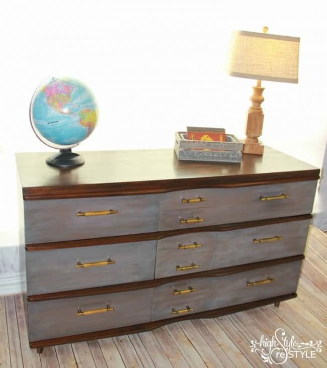 DIY Restoration Hardware Dresser Makeover