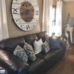Oversize Clock with Reclaimed Wood