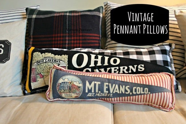 Make Your Own Vintage Pennant Pillows
