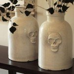 Faux Ceramic Skull Jars