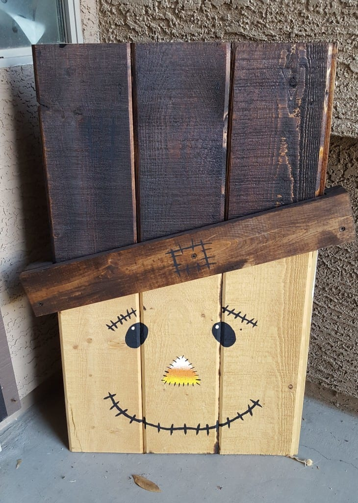 Double Sided Scarecrow And Snowman Porch Decor