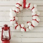 Winter Snowball Wreath