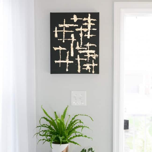 diy-abstract-canvas-art-with-gold-leaf-8