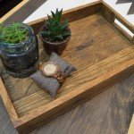 West Elm Inspired Palled wood Tray