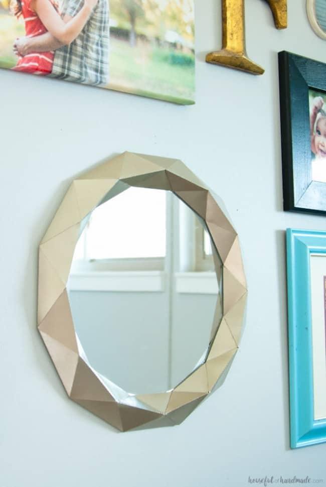 Anthropologie Inspired Geometric Mirror