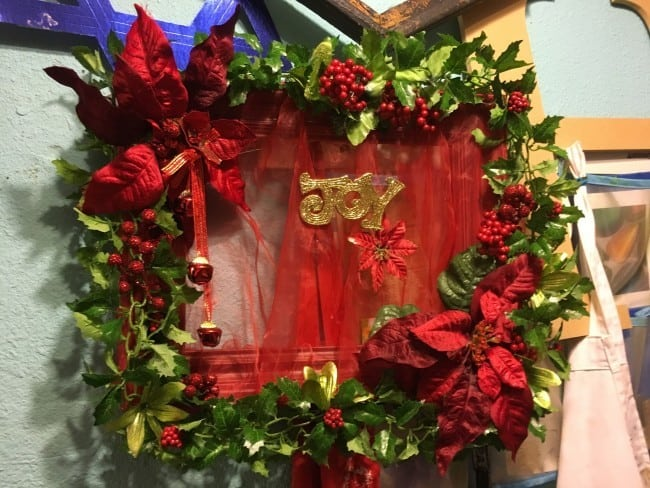 Finished Square Wreath