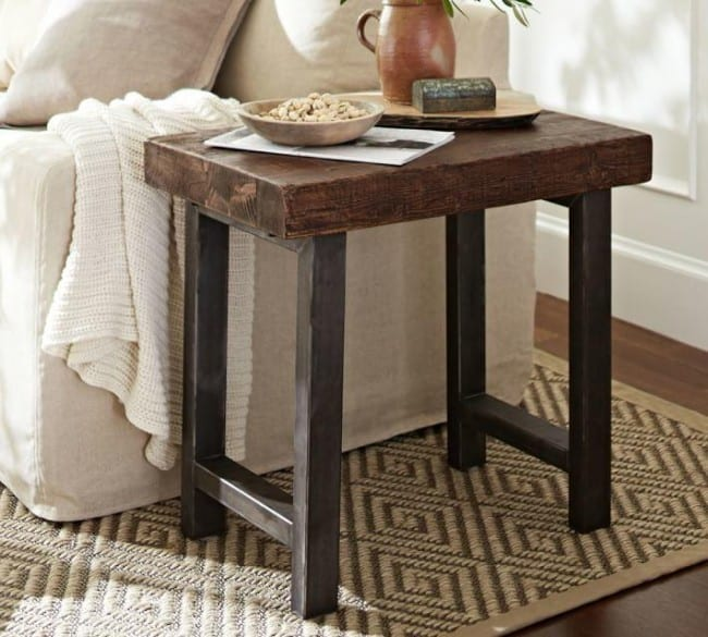 Diy Rustic Side Tables Knockoffdecor Com