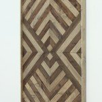 Inexpensive Geometric Plank Wall Art