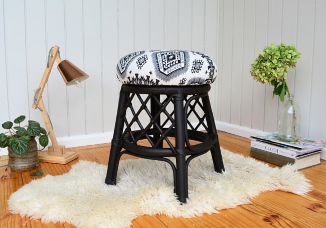 Learn The Easy Way To Upholster an Old Stool or Chair