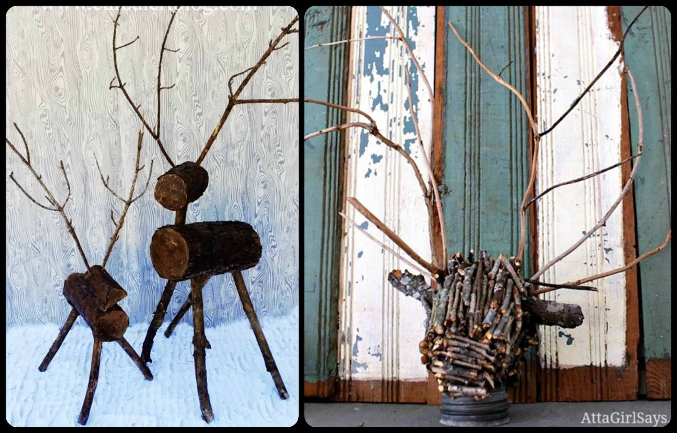 sticks and twigs deer
