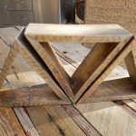Adorable Pallet Wood Triangle Shelves