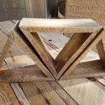 Adorable Pallet Wood Triangle Shelves