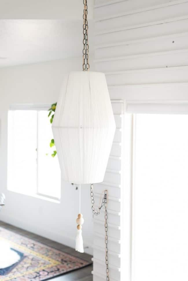 Lampshade To Pendant Light Makeover