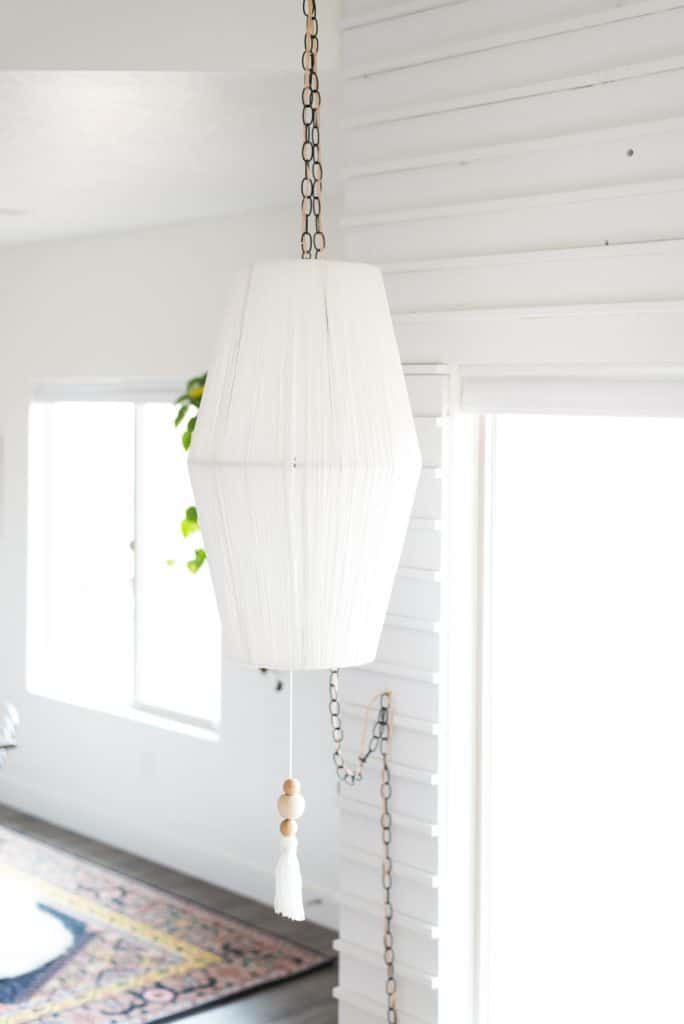 Lampshade To Pendant Light Makeover Knockoffdecor Com