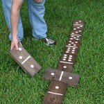 Oversized Backyard Domino Set