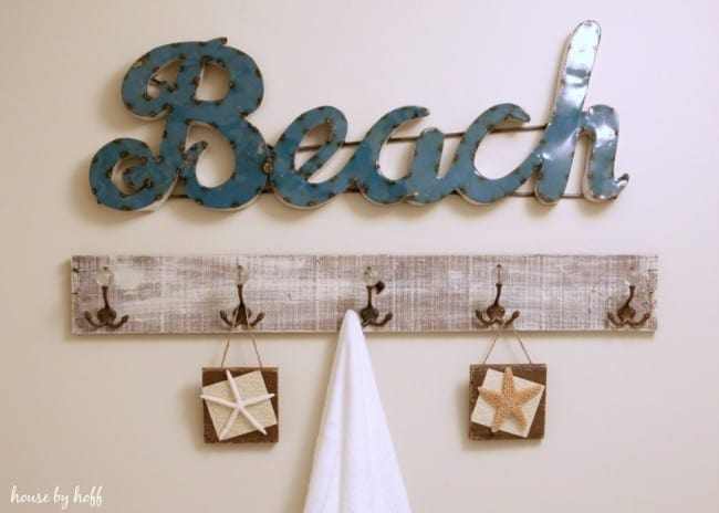 Diy Towel Rack From Old Pallet Wood Knockoffdecor Com