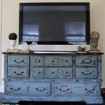 Distressed TV Console