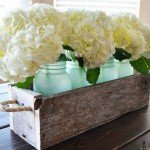 Barn Wood Mason Jar Centerpieces