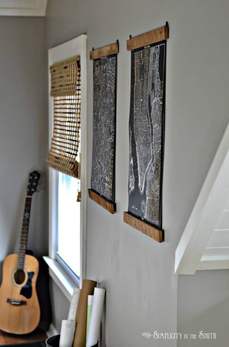 Diy Rustic Wooden Poster Hangers Knockoffdecor Com
