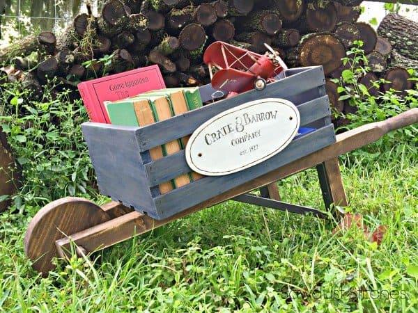 Make Your Own Rustic Wheelbarrow