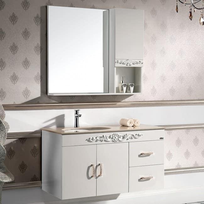 Unique Wall Hung Bathroom Vanity Set