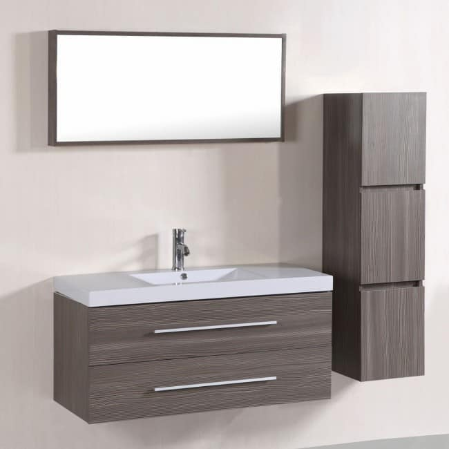 Superb Wall Mount Bathroom Vanity Set