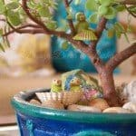 Decorated Bonsai Pot