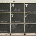 DIY Chalkboard Made From An Old Window