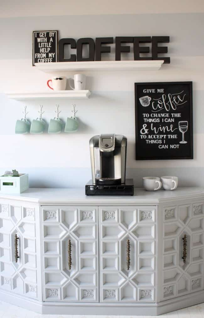 How To Make A Diy Coffee Bar At Home Knockoffdecor Com