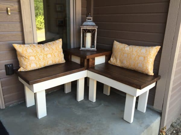 Front Porch Corner Bench