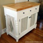 Kitty Litter Cabinet from a Kitchen Island